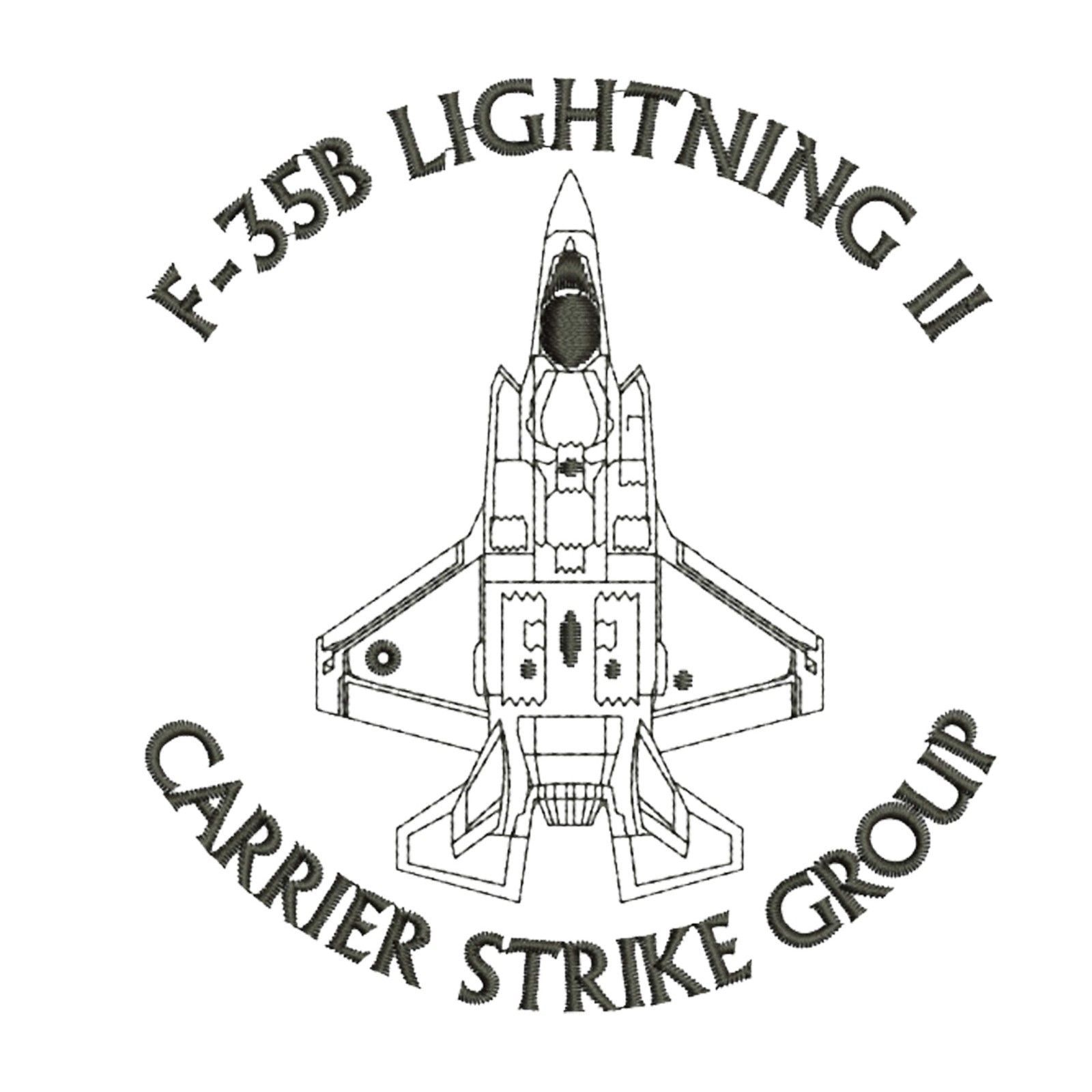F 35b Lightning Ii Carrier Strike Group F35 Aircraft Embroidered Polo T Shirt